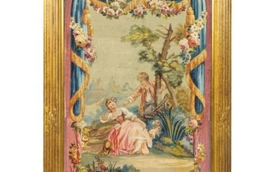An Aubusson Tapestry Illustration on Paper