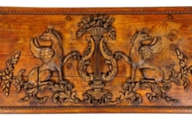 A French Carved Walnut Panel EARLY 19TH CENTU