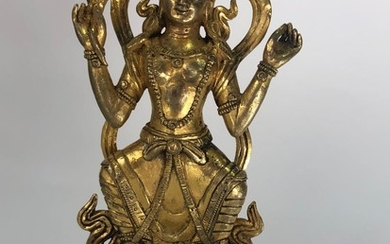 A Gilt Bronze Figurine of Buddhist Deity