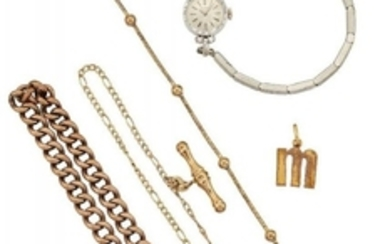 A group of jewellery, comprising: a lady's...