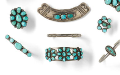 A group of Southwest jewelry items