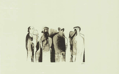 Henry Moore (1898-1986) Four Standing Figures (Cramer 323)