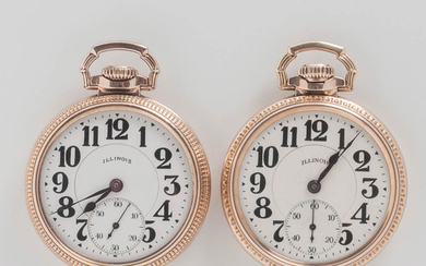 "Two Illinois Watch Co. Sixty-hour ""Bunn Special"" Watches"