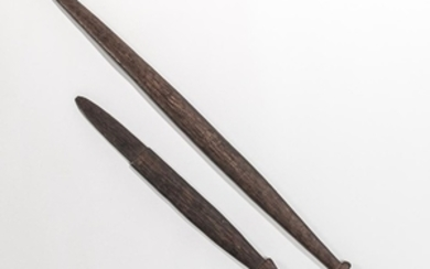 Two Massim Islands Sword Clubs