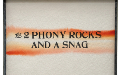 Ed Kienholz - Ed Kienholz: For 2 Phony Rocks and a Snag