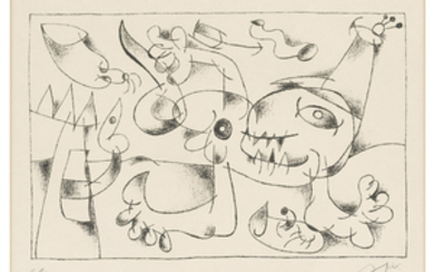 JOAN MIRÓ (1893-1983), Plate 5, from: Suites for Ubu Roi
