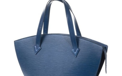 LOUIS VUITTON Sac ST JACQUES, cuir Epi bleu,…