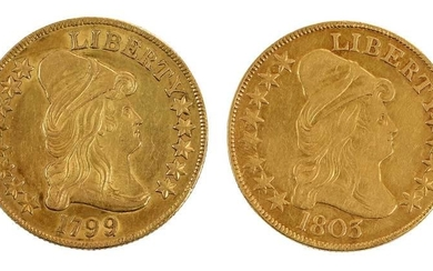 1799 and 1803 U.S. Ten Dollar Gold Coins