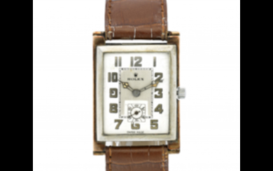 ROLEX Gent's metal wristwatch 1920s/1930s Dial, movement and case...