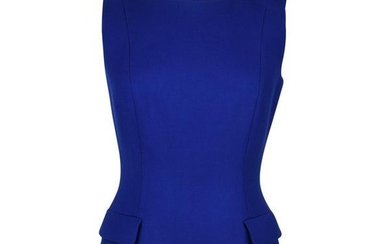Christian Dior Top Electric Blue Sleeveless Jeweled