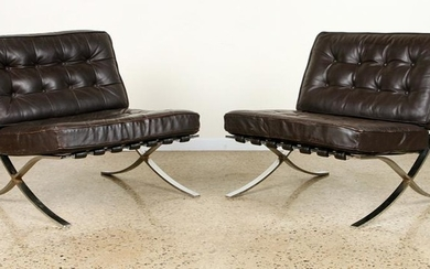 PAIR KNOLL MID CENTURY MODERN BARCELONA CHAIRS