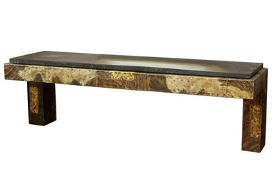 Paul Evans Brutalist Wall-Mounted Console Table