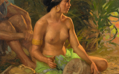 Seated Nude with Drum