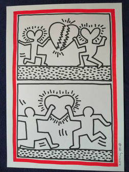 KEITH HARING: MEN WITH A HEART.