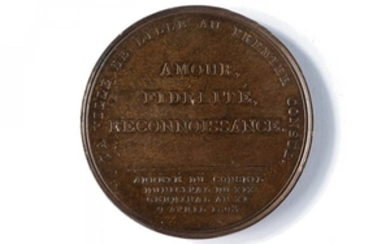 MEDAL OF THE TOWN OF LILLE DEDICATED TO NAPOLEON I