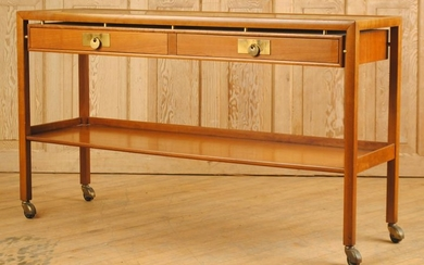 MID CENTURY MODERN LABELED BAKER CONSOLE TABLE