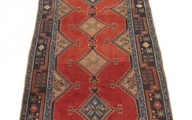 Semi-Antique Hand-Knotted Dated North-Western Persia Runner