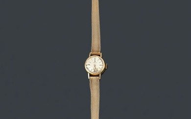 OMEGA ladies' with case and band in 18K rose gold