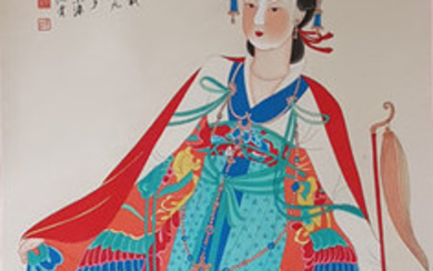 Chinese scroll painting on paper - Rice paper - China - Late 20th century