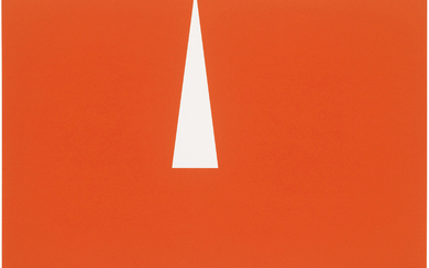 CARMEN HERRERA (B. 1915), Red with White Triangle