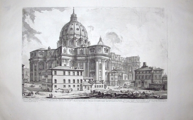 Piranesi, Giovanni: ST. PETER'S, FROM THE PIAZZA DELLA SAGRESTIA, Year 1748
