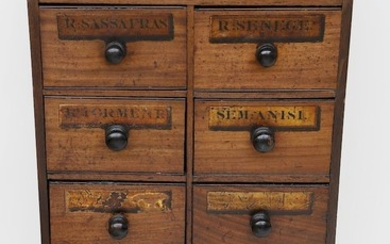 9th Century American Walnut 8 Drawer Apothecary Cabinet
