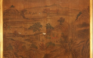 CHINESE PAINTING ON SILK MOUNTED BOARD 48 41