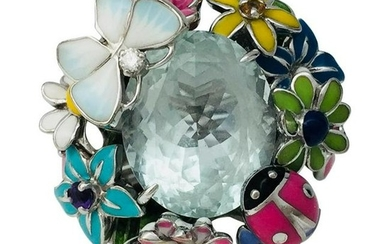 Dior Ring, Diorette Collection with aquamarine and