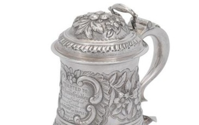 An early George III English provincial baluster tankard by John Langlands I & John Goodrick