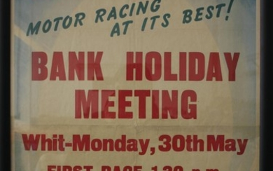A Goodwood Bank Holiday Meeting Whit Monday 30 May race poster,