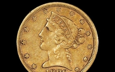 A United States 1880Liberty Head$5 Gold Coin
