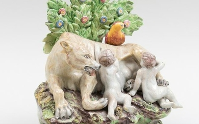 Staffordshire Pearlware Bocage Group of Romulus and