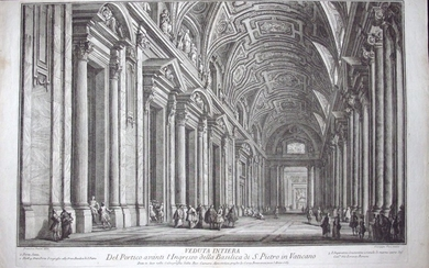 Vasi Giuseppe: Entrance of St. Peter's Basilica, Year 1765