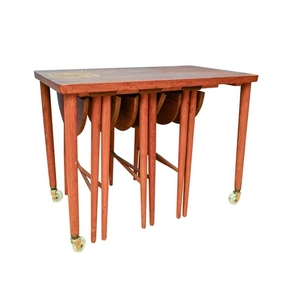 Danish Modern Teak Serving Table With