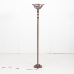 Torchiere Floor Lamp with Glass Shade