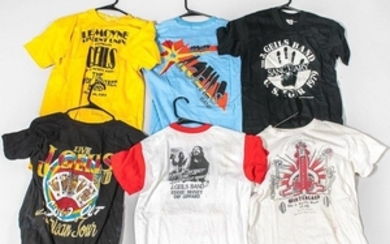 Six Vintage T-shirts, including Bob Seger & the Silver Bullet Band/J. GEILS BAND/EDDIE MONEY/DEF LEPPARD/World Series of Rock 1980, Bil