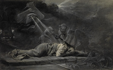 HENRI LAURENT DESROUSSEAUX (Joinville le Pont 1862 1906 Valmondois) The Nightmare.