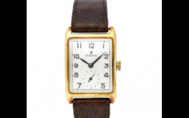 ROLEX Gent's 18K gold wristwatch 1930s Dial, movement and...
