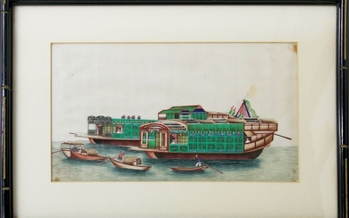 Chinese Export Watercolor on Mulberry Pith Paper