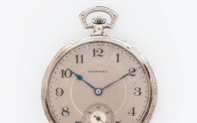 E. Howard & Co. 14kt White Gold Open-face Watch