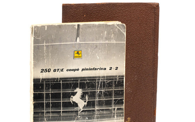 A Ferrari 250 GT/E coupe pininfarina 2+2 owner's wallet and handbook, Italian, August 1961,