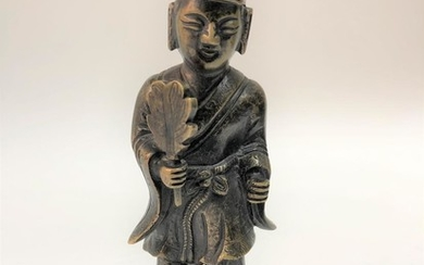A Standing Buddhist Bronze Figurine, Probably Ji Gong