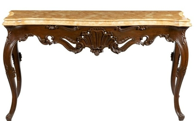 Venetian Style Faux Marble Console