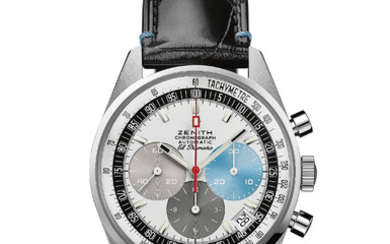 ZENITH EL PRIMERO A386 ONLY WATCH A unique El Primero White Gold execution delivered with an unprecedented watchmaking experience and lifetime warranty & service.,