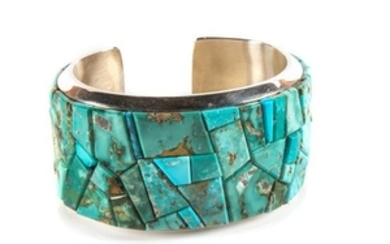 Cassandra Dukepoo (Taos, b. 1976) Silver and Turquoise Cuff Bracelet
