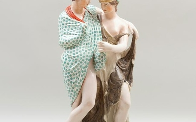 Large Staffordshire Pearlware Figure Group of Bacchus