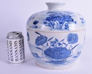 A LARGE 19TH CENTURY CHINESE BLUE AND WHITE BOWL AND