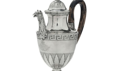 A coffee pot, G. Spagna, Rome, late 1700s