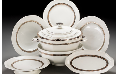 A Forty-Five Piece Salmon & Co. Limoges Ceramic Partial Service (circa 1930)