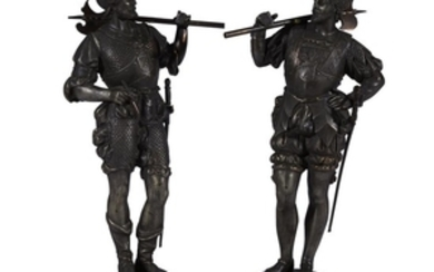 A pair of Ottoman guard sculptures 19th/20th century H:...